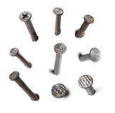 Metal nails set  on white Royalty Free Stock Photos