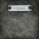 Metal nameplate Royalty Free Stock Image