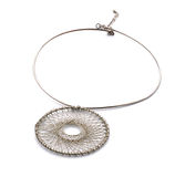 Metal necklace Stock Images