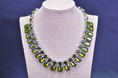 METAL NECKLACE. JEWELERY METAL NECKLACE WITH PLASTIC BEADS stock photos