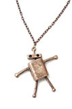 Metal necklace man Royalty Free Stock Images