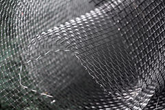 Metal net closeup Stock Photos