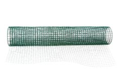 Metal net coated with green PVC Stock Photography