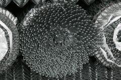 Metal net fence rolls Stock Images