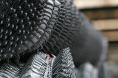 Metal net fence rolls Royalty Free Stock Photo
