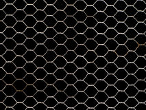 Metal net isolated on black Stock Image