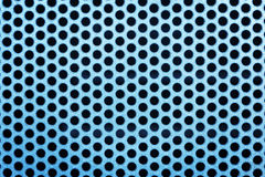 Metal net with perforated circles Royalty Free Stock Image