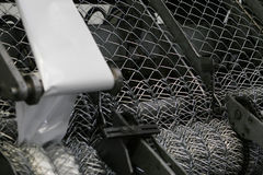 Metal net production Royalty Free Stock Photo