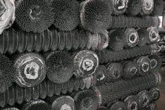 Metal net rolls Stock Photos