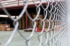 The metal nets protect area is on warehouse Stock Image