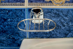 Metal new soap-dish Stock Images