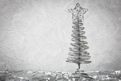 Metal new year tree Stock Image