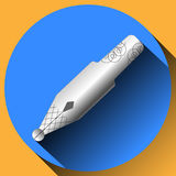 Metal nib icon Royalty Free Stock Photography
