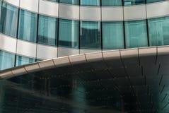 Metal nobre e montra de vidro espelhada da fachada Fotografia de Stock Royalty Free