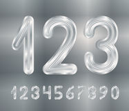 Metal numbers Royalty Free Stock Images