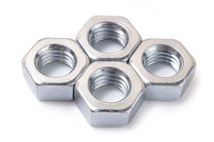 Metal nut royalty free stock photo
