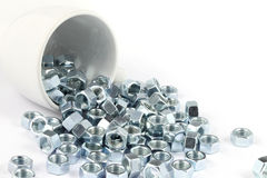 Metal nut with cup Stock Photos