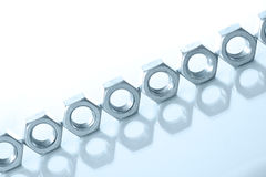 Metal nuts Royalty Free Stock Images