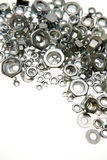 Metal nuts Stock Image