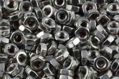 Metal nuts. A lot of different metal screws for maintenance activity Royalty Free Stock Image