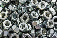 Metal Nuts Stock Photo