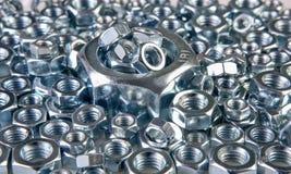 Metal nuts Stock Photos