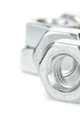 Metal nuts tool on white Royalty Free Stock Images