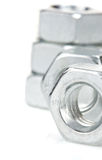Metal nuts tool on white Stock Images
