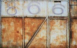 Metal ośniedziała ściana, fotografia royalty free