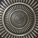 Metal o elemento redondo abstrato da decoração do ornamento do teste padrão do fundo do círculo Teste padrão repetitivo do elemen Foto de Stock