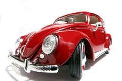 Metal o fisheye 1955 velho da VW Beatle do modelo do brinquedo da escala Imagens de Stock