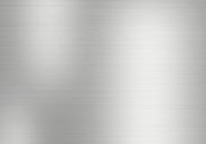 Metal o fundo da placa de aço escovada com reflexões Imagem de Stock Royalty Free