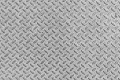 Metal o fundo do teste padrão da textura da placa do diamante do aço sem emenda Fotografia de Stock