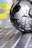Metal o globo fotos de stock