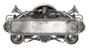 Metal o quadro e o auto carro velho das peças sobresselentes isolados Fotografia de Stock