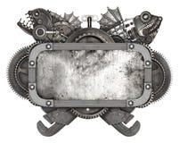 Metal o quadro e o auto carro velho das peças sobresselentes isolados Imagens de Stock Royalty Free
