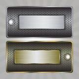 Metal odznaki Zdjęcie Stock