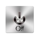 Metal Off button. vector illustration