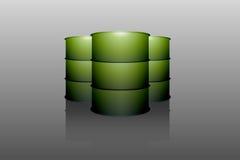 Metal oil barrel tank stock illustration
