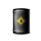 Metal Oil Barrel. On White Background royalty free illustration