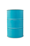 Light blue oil barrel Stock Images