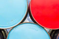 Metal oil barrels Royalty Free Stock Photo