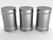 Metal oil fuel barrels. Isolated Royalty Free Stock Photos