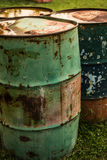 Metal old barrels Stock Photo
