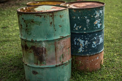 Metal old barrels Royalty Free Stock Photo
