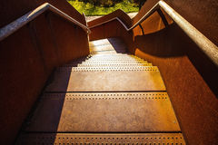 Metal old staircase close-up photo Royalty Free Stock Image