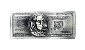 Metal one hundred dollars. Royalty Free Stock Images