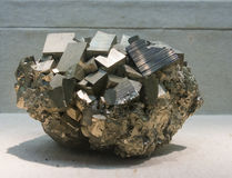 Metal Ore pyrite Stock Images