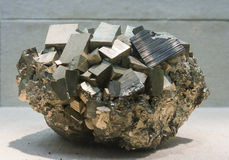 Metal Ore pyrite Stock Photo