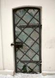 Metal ormanented old door of Illilskaya church Stock Photo